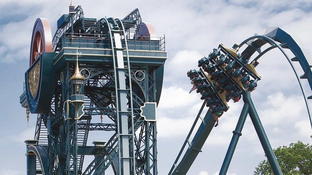 Dive Coaster Baron 1898 Im Freizeitpark Efteling