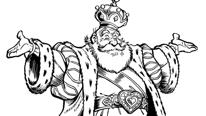 Efteling Kleurplaat Pardoes Colouring Picture Of King Pardulfus Efteling Kids
