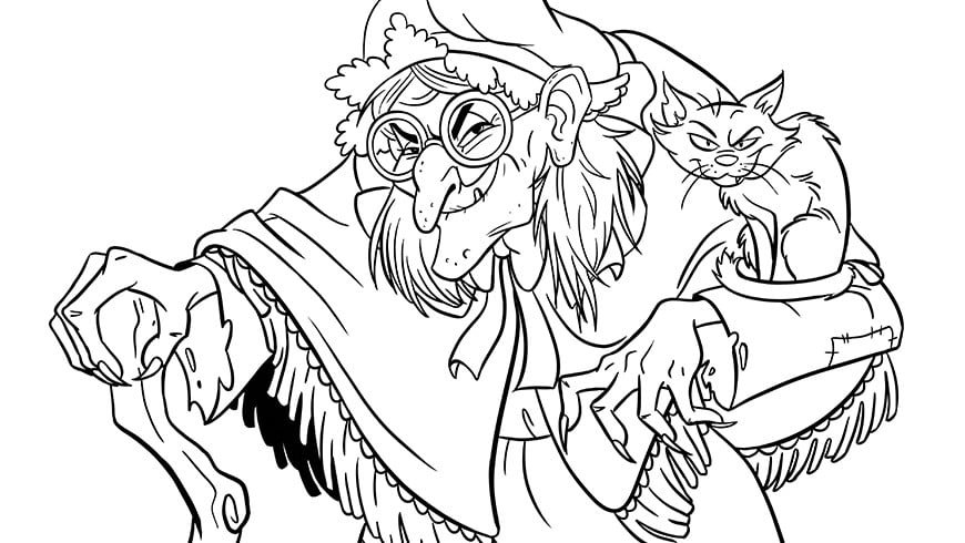 Colouring Picture Of Witch Efteling Kids