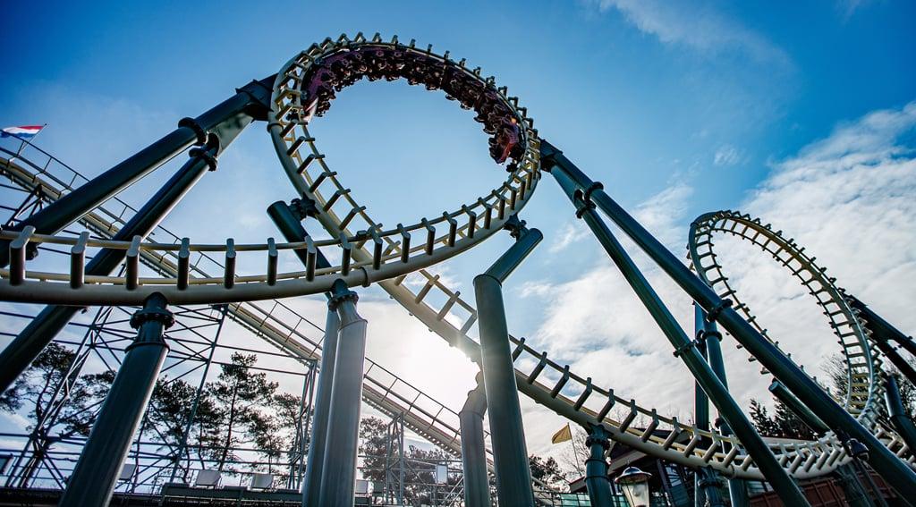 'Python' steel roller coaster