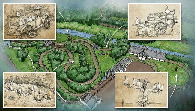 Overzicht van de route van De Oude Tufferbaan met nieuwe interactieve scènes.
