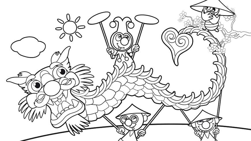 China Kleurplaat Jokie Efteling Kids