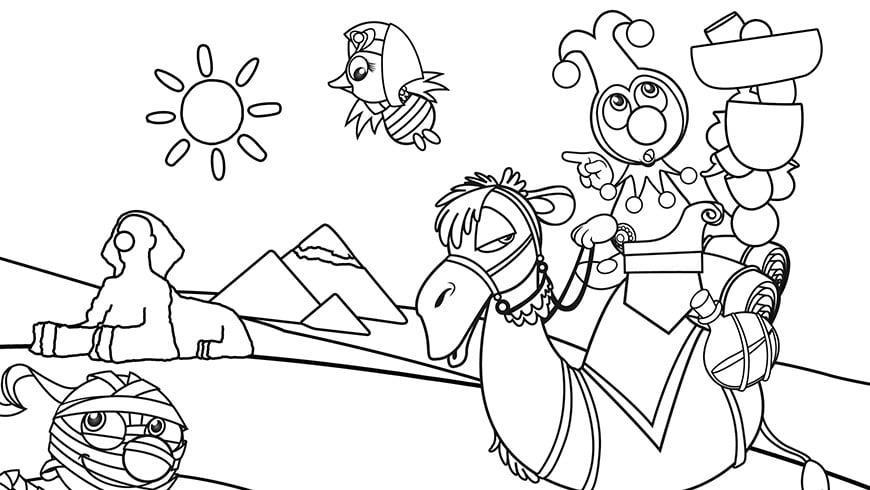 Egypte Kleurplaat Jokie Efteling Kids