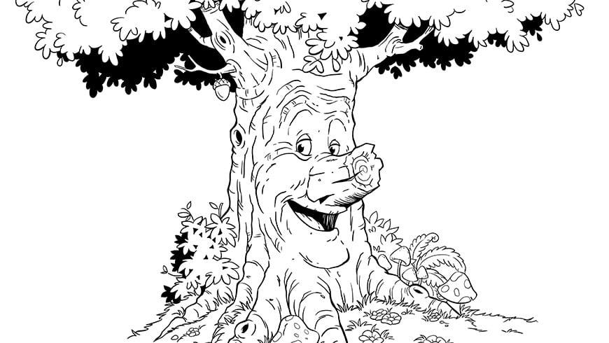 kleurplaat sprookjesboom efteling